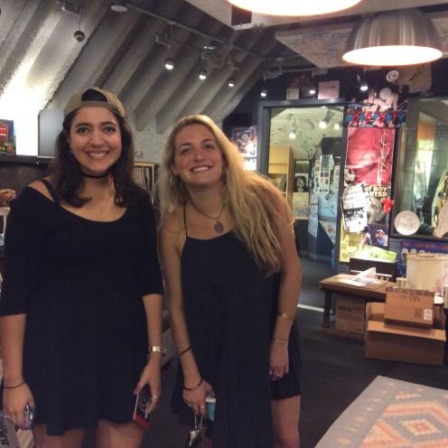 Eleni Anas, director of KWUR, 90.3 and Charlotte Gordon, director of KUUMBATV, both student-led groups at Washington University.