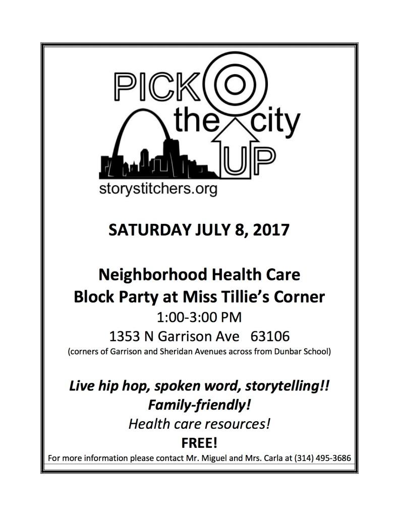 edited Tillie's Corner hosts Pick the City UP tour Sat July 8, 2017