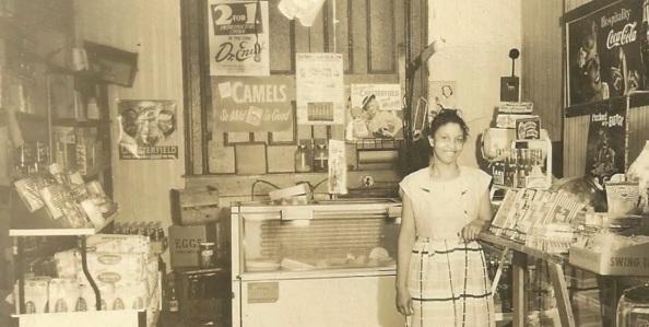 """Mrs. Lillie V. """"Granny"""" Pearson 1915-2006 Founder of Tillie's Food Shop and Tillie's Corner Photo Courtesy of Tillie's Corner Historical Project"""