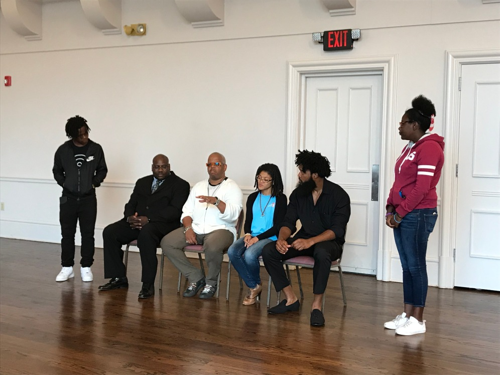 Chris and Alia lead a discussion at the Grandel Theater with Terence Blanchard